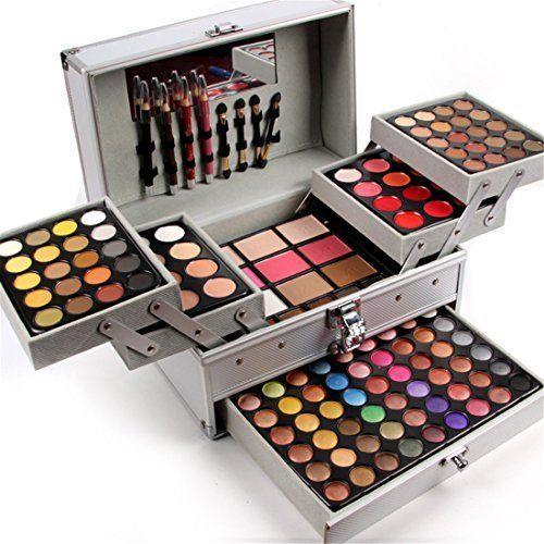 121ea2664 Maletín de maquillaje desplegable en 6 compartimentos. Con una paleta de  sombras de ojos única, de una gama completa de colores, para múltiples  ocasiones y ...