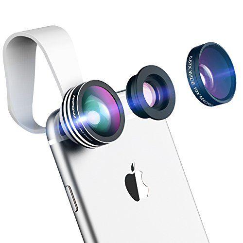 6ff517de80 Este kit cuenta con una lente ojo de pez, una lente de 180 grados y una  lente macro, funcionales para todo teléfono Smartphone. Además, su tamaño  lo hace ...
