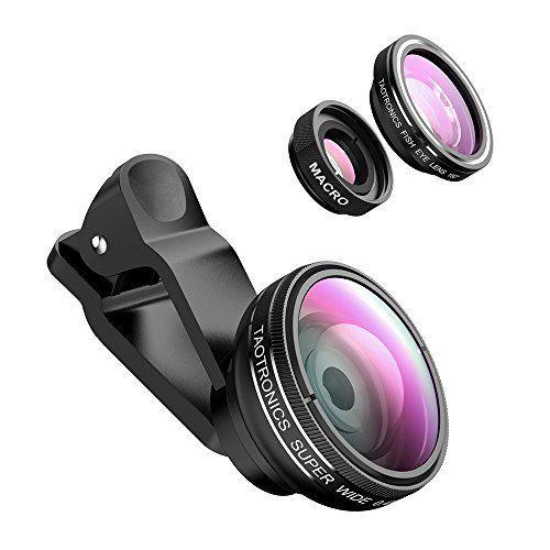 """16b5ce11b1 Este combo de lentes para fotografía cuenta con una lente con efecto """"ojo de  pez"""", una lente macro y una gran angular. Son compatibles con cualquier ..."""