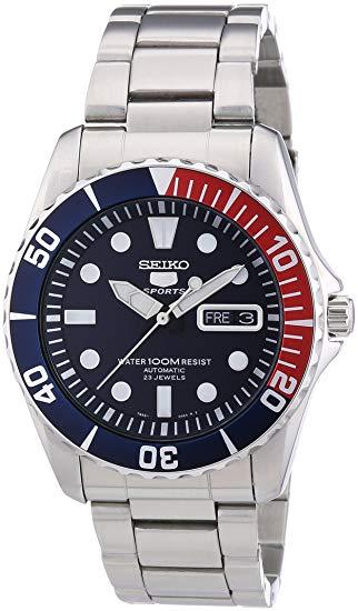 Seiko Reloj Analógico Automático para Hombre con Correa de Acero Inoxidable – SNZF15K1