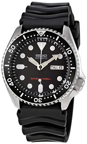 Seiko Reloj Analógico Automático para Hombre con Correa de Caucho – SKX007K1