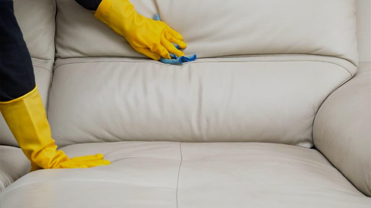 limpiar sofa de polipiel
